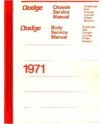 amazon com 1971 dodge challenger dart shop service repair manual rh amazon com 1970 Challenger 1971 Cuda