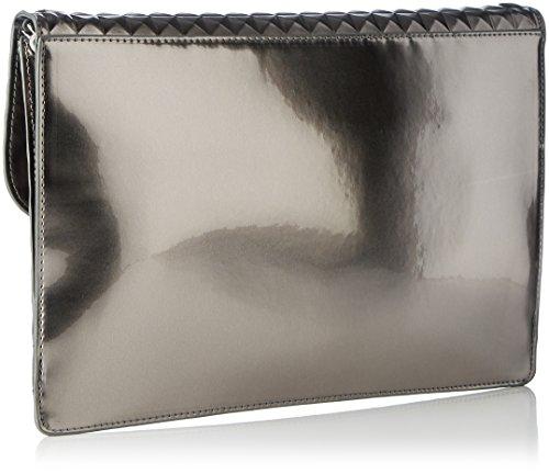 Liu Jo Damen Fresia Pochette Clutch, Grau (Gun Metal), 3x22x32 cm