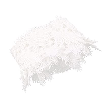 eDealMax Poliéster Inicio diseño de la hoja hecha a Mano ropa de la Falda del borde