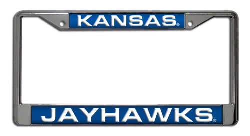 NCAA Kansas Jayhawks Laser Cut Chrome Plate Frame - Kansas License Plate