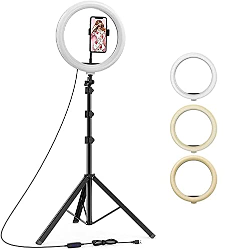 Kitronics 18 Inches Big LED Ring Light with Tripod Stand for Camera Smartphone to Capture Your Photo and Video at Tiktok, Musically and Other Phone's App – with Tripod Stand
