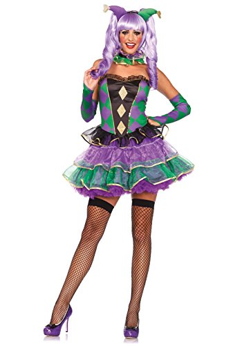 Leg Avenue Women's 5 Piece Mardi Gras Sweetie Costume,