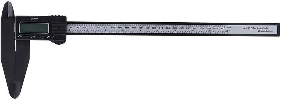 Niady 150 mm 300 mm Calibre electr/ónico 300 mm Electr/ónico Digital Caliper carbono Regla con mand/íbula larga herramienta de medici/ón