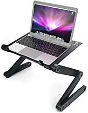Laptop Desk Adjustable Foldable Aluminum Rotate 360 Degrees Table Standing LifeBasis Notebook ReadingTablet Holder Breakfast Coffee TV Tray Table
