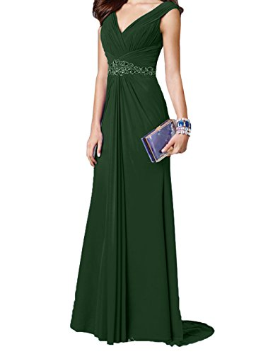 Abendkleider Damen Damen Ausschnitt Dunkel V Elegant Charmant Gruen Jugendkleider Ballkleider Partykleider Festlichkleider Langes wtqd6q8