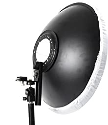 Cowboystudio 22 in Off-Camera Flash Beauty Dish Mount for Canon Nikon EX430, EX580, SB800, SB600 Flashes