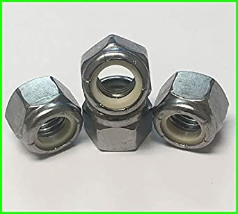 30 pcs 1//2 Nylon Lock Hex Nuts -13 Thread Stainless Steel 18-8 by Dolos
