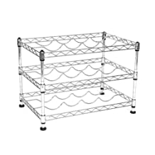 Seville Classics SHE05110ZB Ultra Zinc 11.5-Inch by 17.5-Inch by 12-Inch 12-Bottle Wine Rack, Mini