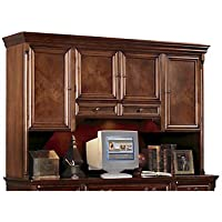 Cobblestone Cherry Hutch with Task Light