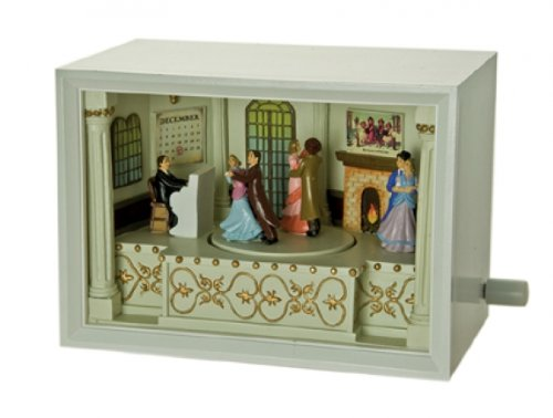 """MusicBox Kingdom 53065 Illuminated Tea Dance The Couples Music Box, Turns to The Melody """"Fascination Waltz"""""""