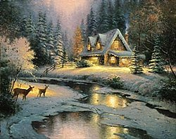 Springbok Puzzle - Thomas Kinkade Deer Creek Cottage - 2000 Piece