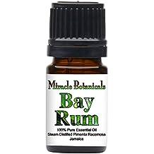 Miracle Botanicals Bay Rum Essential Oil - 100% Pure Pimenta Racemosa - Therapeutic Grade - 5ml