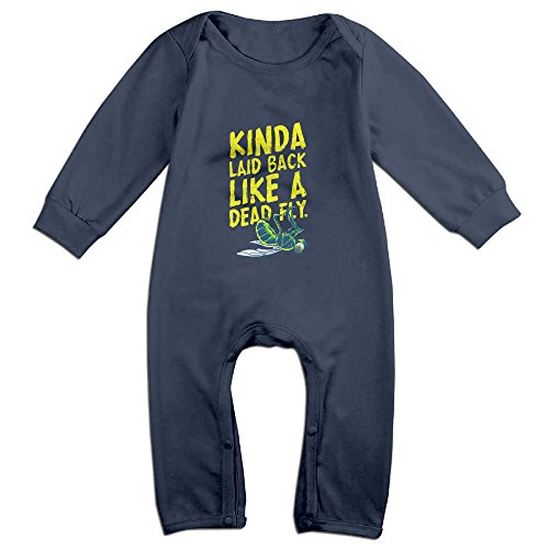 [Raymond Da Ha Da Ha... Long Sleeve Romper Bodysuit Outfits Navy 12 Months] (Maleficent Toddler Costumes)