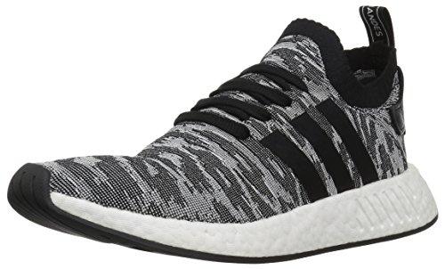adidas Originals Men's NMD_R2 PK Running Shoe Black/White, 8.5 M US