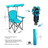 ALPHA CAMP Shade Canopy Chair Folding Camping Chair Support 350 LBS