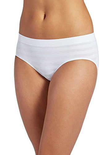 (Jockey Women's Underwear Matte & Shine Seamfree Hipster, White, 5 )