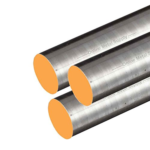Online Metal Supply 12L14 Steel Round Rod, Diameter: 0.250 (1/4 inch), Length: 48 inches, (3 Pack)
