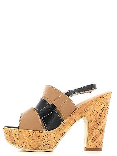 Keys 5127 High Heeled Sandals Women Beige o5S43