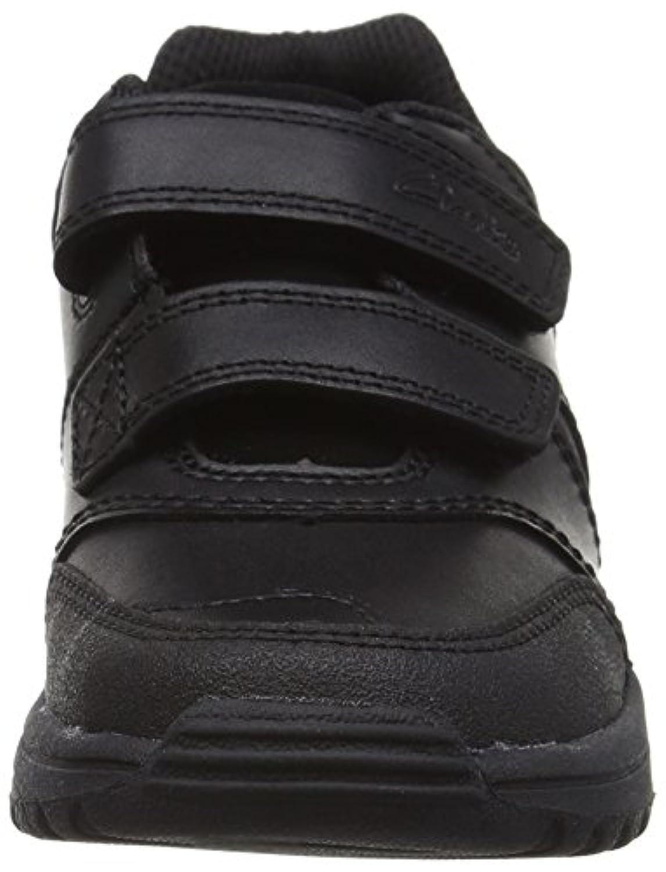 Clarks Jack Spark Infant Boys School Shoes Black 10 E
