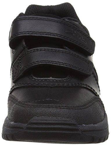 Schwarz Leather Black Jungen JackSpring EU Clarks Sneakers 29 11 Kinder UK Inf 6XxIwgY