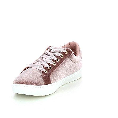 Go Tendance Baskets effet velours à lacets ruban Rose A7oNSxlA