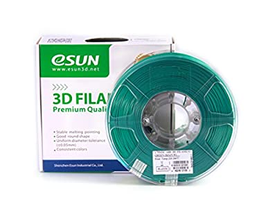 eSUN 1.75mm Green ABS 3D Printer filament 1kg Spool (2.2lbs), Green