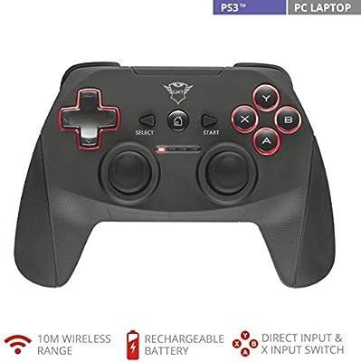 Trust Gaming GXT 545 - Gamepad inalámbrico para Playstation 3 y PC: Trust: Amazon.es: Videojuegos