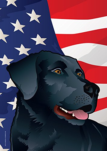 Citizen Pride USA Black Lab Garden Flag by Joe Barsin, (Black Lab Flag)