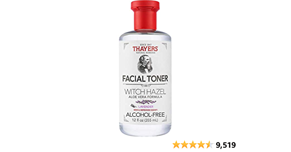 THAYERS Alcohol-Free Lavender Witch Hazel Facial Toner with Aloe Vera Formula, 12 Ounce