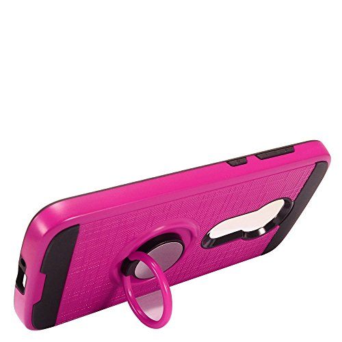 - Motorola Moto E5/Moto E5 Play/Moto E5 Cruise Case, Luckiefind Brushed Metal Hybrid Case with Ring Stand Case Accessories (Pink)