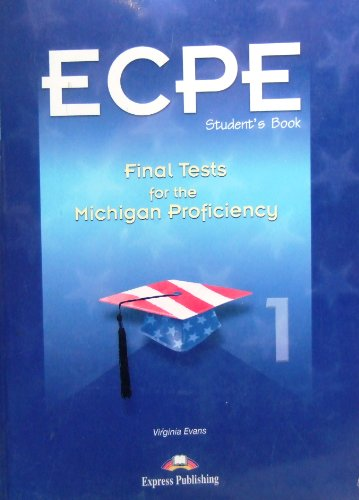 Final Tests 1 for Michigan Certificate of Proficiency in English: Student's Book