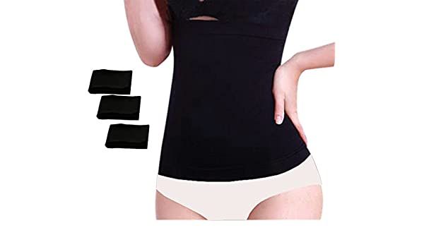 ef8e2e1f1c Chabame Seamless Bamboo Corset Liners - 3 Pack - Undergarment Waist Liner - Breathable  Soft Ultra Absorbent and Very Stretchy  Amazon.ca  Clothing   ...