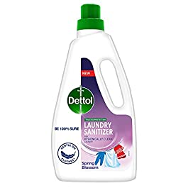 Dettol Laundry Liquid Sanitizer – Removes Germs , Adds Freshness , Suitable for all Fabrics (Spring Blossom…