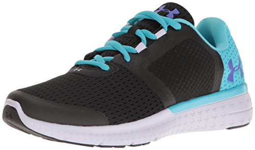 Under Armour Girls' Grade School Micro G Fuel RN, Black/Lavender Ice/Purple Chic, 4 M US Big Kid