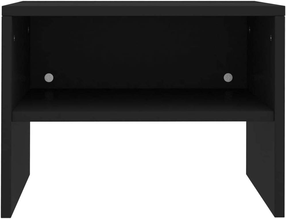 vidaXL 2X Tables de Chevet Table de Canap/é Table de Nuit avec Un Compartiment Ouvert Salon Chambre /à Coucher Noir 40x30x30 cm Agglom/ér/é