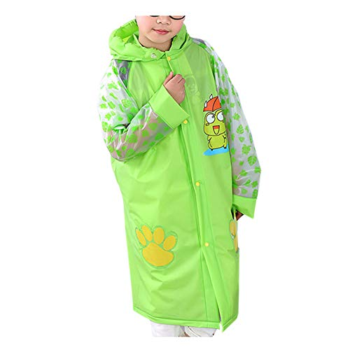 Xingsiyue Cartoon Kids Rainwear PVC Hooded Waterproof Rainsuit Student Raincoat