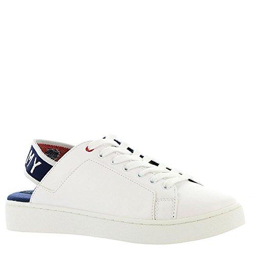 Tommy Hilfiger Women's Sabba Sneaker, White, 9.5 Medium US