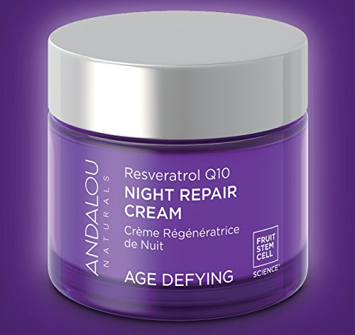 Andalou Naturals Resveratrol Q10 Night Repair Cream, 1.7 oz, For Dry Skin, Fine Lines & Wrinkles, For Softer, Smoother, Younger Looking Skin by Andalou Naturals (Image #5)