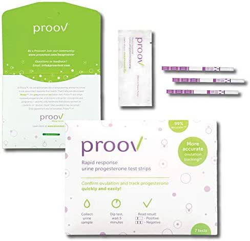 Proov at Home Progesterone Test Kit (7 PdG Test Strips) – Works Great with Ovulation Tests | Fertility Tracking Kit | Progesterone Test Strips, Track at Home Within 5 Minutes