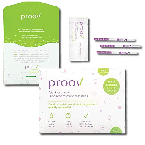Proov Progesterone Test Strips (7 PdG Test Strips) - Track Progesterone at Home in 5 Minutes | Fertility Tracking Kit