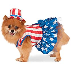 Rubie's 4th of July Pet Costume, Medium, Patriotic Pooch Girl