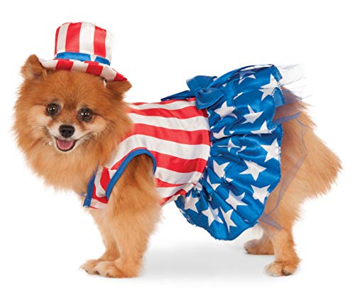 Rubie's 4th of July Pet Costume, Small, Patriotic Pooch -