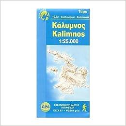 Kalymnos Kalimnos Greece Telendos 125 000 Hiking Map ANAVASI