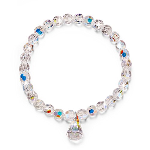 LadyColour Pure Love Stretch Bracelet Swarovski Crystals Jewelry for Women Bracelets for Teen Girls