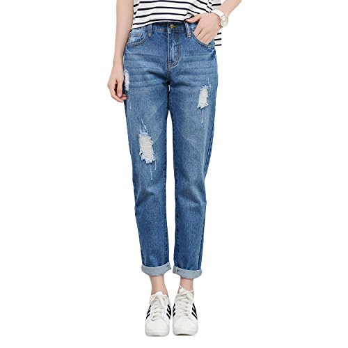 Womens Classic Blue Jeans - 4