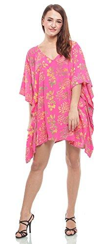 Summer and Sam $10 All items - Kaftan Short Floral Printed Pink - Sams Club Floral