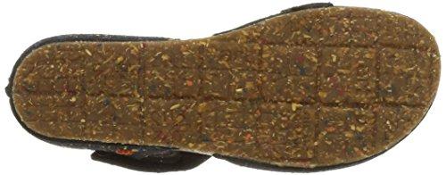 ART CRETA - Sandalias de vestir de cuero para mujer Multicolore (Dotted Black)