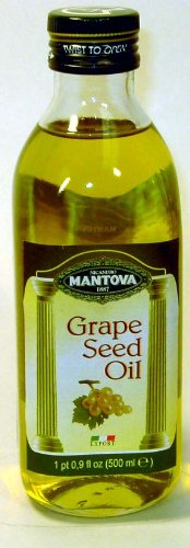 Mantova Grapeseed Oil, 17 oz (Pack of 2) high in antioxidants and possessing cholesterol-lowering properties by Mantova