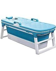 Adult Portable Bathtub Plastic Pink Blue Bathtub Foldable Adult Bathwith Lid Home Sauna 1.26m
