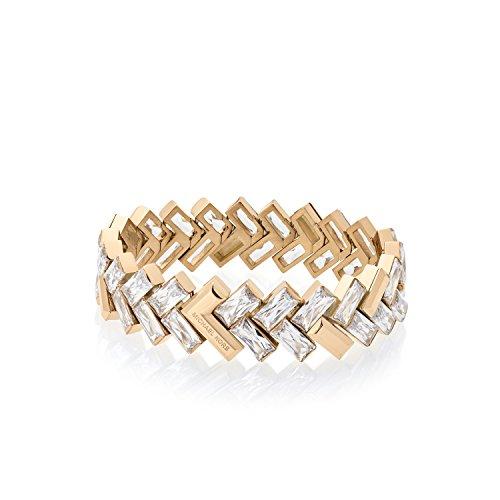 """Michael Kors Gold Tone Baguette Cheveron Statement Bracelet, 7.5"""""""